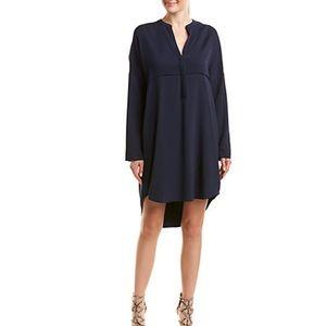 James Perse Crepe Tunic Shift Dress Blue Size 1